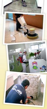 駐點清潔/地板清潔上臘/石材晶化/坐椅清潔/消毒等服務
