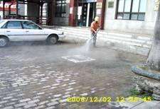 附加清潔服務-停車場地磚高壓沖洗
